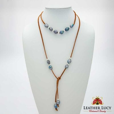 Elegant Leather and Pearl Jewelry for women wild at heart